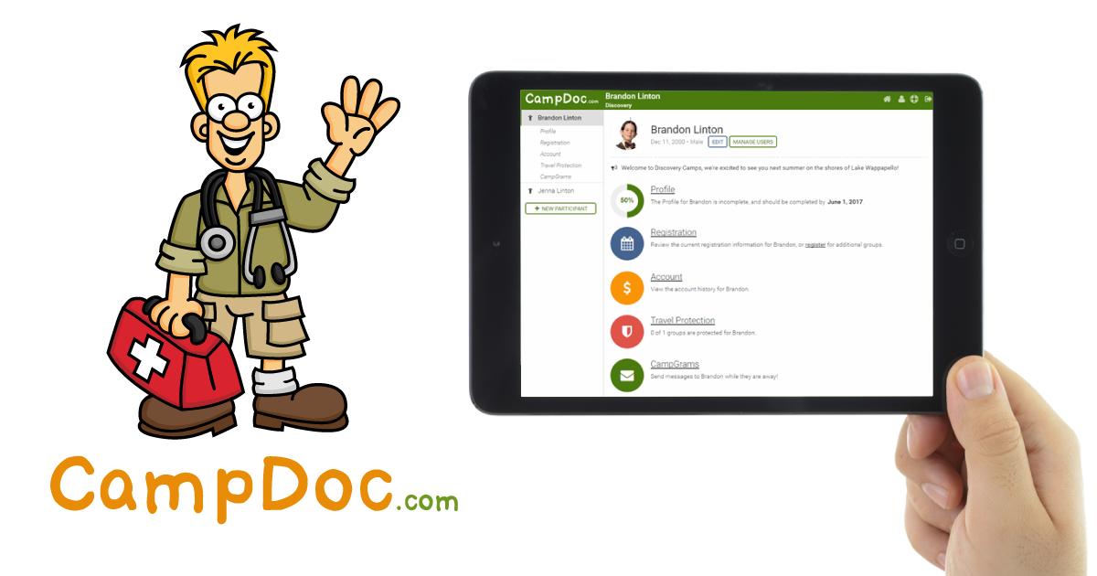 CampDoc com Electronic Health Record / Online Registration